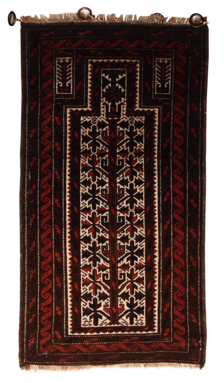 Fine Antique Persian Baluch Rug, Hand Knotted, circa 1930s For Sale 1