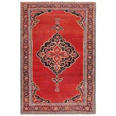 Fine Antique Persian Halvai Bidjar Rug. Size: 4 ft 8 in x 7 ft (1.42 m x 2.13 m)