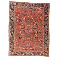 Fine Antique Persian Heriz Rug, Hand Knotted, circa 1900