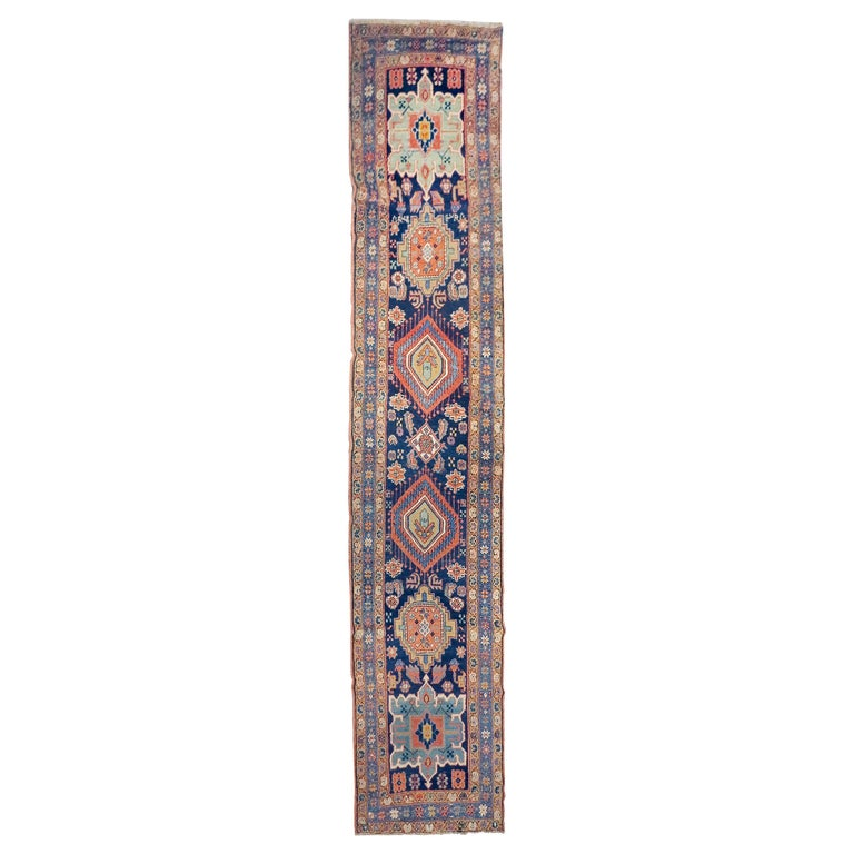 Fine Antique Persian Heriz/Serapi Runner Rug, Hand Knotted, circa 1890 For Sale