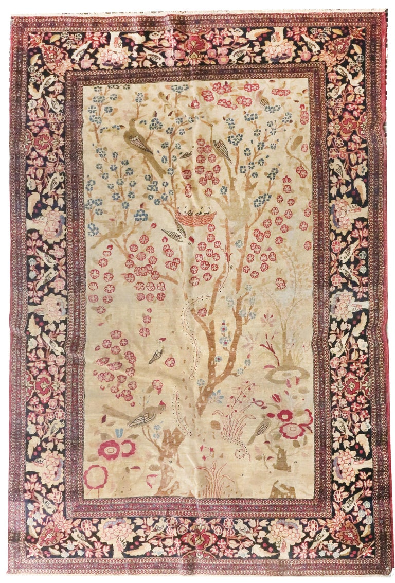 Hand-Knotted Fine Antique Persian Isfahan 'Ahmad' Rug, Hand Knotted, circa 1890 For Sale