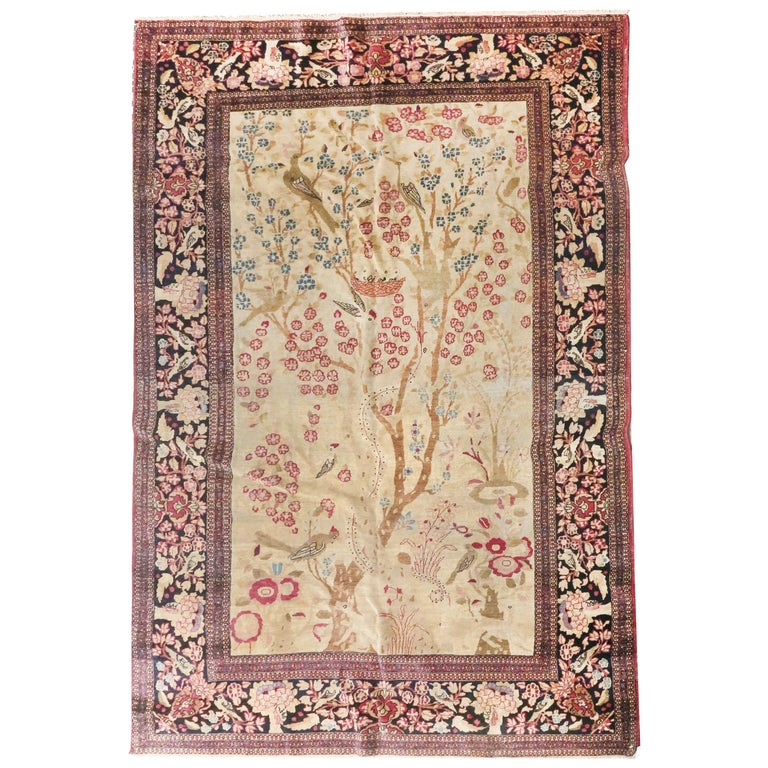 Fine Antique Persian Isfahan 'Ahmad' Rug, Hand Knotted, circa 1890 For Sale