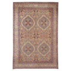 Fine Antique Persian Kerman Lavar Carpet. Size: 10 ft x 14 ft 5 in