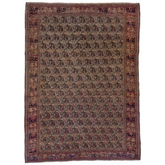 Fine Antique Persian Khorassan Rug, All-Over Paisley Field, circa 1900s