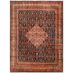 Fine Antique Persian Malayer Carpet. Size: 10 ft 6 in x 14 ft (3.2 m x 4.27 m)