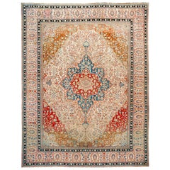 Fine Antique Persian Mohtashem Kashan Rug