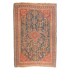 Fine Antique Persian Qashqai Rug, Hand Knotted, circa 1920s