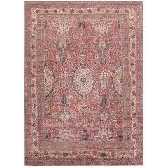 Fine Antique Persian Silk Heriz Carpet. Size: 10 ft x 13 ft (3.05 m x 3.96 m)