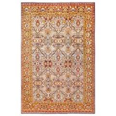 Fine Antique Persian Silk Heriz Rug