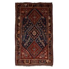 Fine Antique Qashqai/Kashkai Persian Rug, Hand Knotted, circa 1890