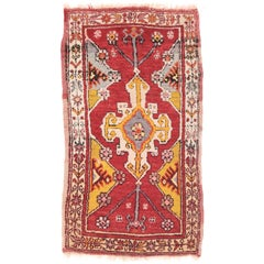 Fine Antique Red Anatolian Turkish Rug, Hand Knotted, circa 1900
