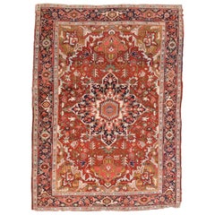 Antique Persian Heriz Area Rug
