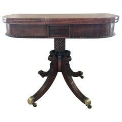 Fine Antique Regency Mahogany Tea Table
