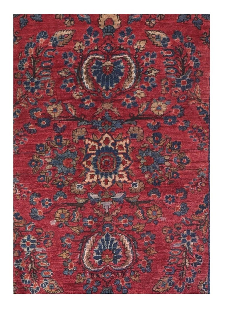 Fine antique Sarouk Persian rug, hand knotted, circa 1910  Design: Overall  A Sarouk rug is a type of Persian rug from Markazi Province in Iran. Sarouk (also Saruk or Sarough) rugs are those woven in the village of Saruk and also the city of