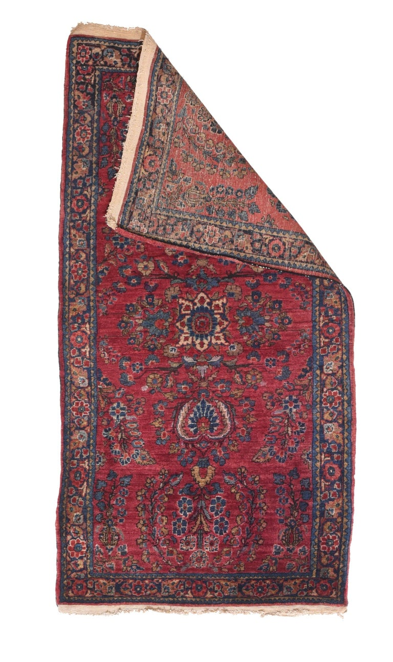 Tribal Fine Antique Sarouk Persian Rug, Hand Knotted, circa 1910 For Sale