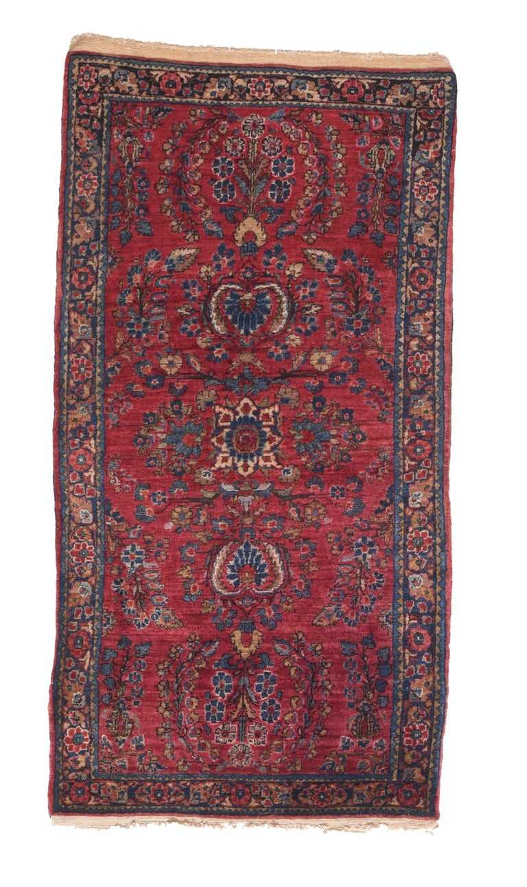 Hand-Knotted Fine Antique Sarouk Persian Rug, Hand Knotted, circa 1910 For Sale