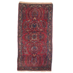 Fine Antique Sarouk Persian Rug, Hand Knotted, circa 1910