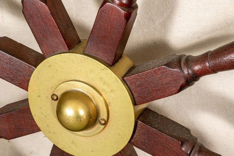 Fine Antique Ship's Wheel For Sale 5