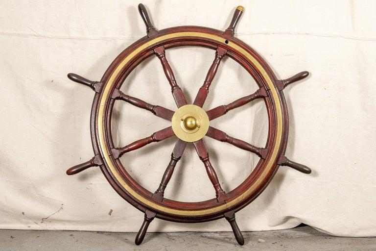 Fine Antique Ship's Wheel For Sale 6