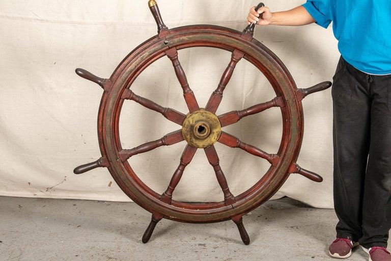 Fine Antique Ship's Wheel For Sale 7