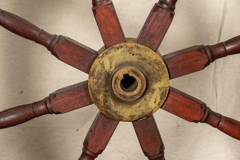 Fine Antique Ship's Wheel For Sale 9