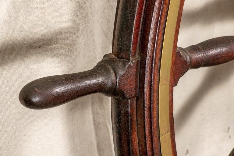 Fine Antique Ship's Wheel For Sale 1