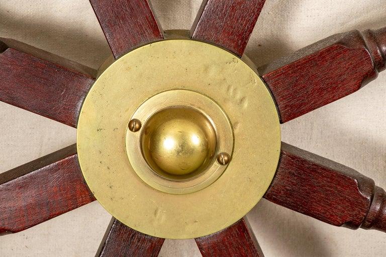 Fine Antique Ship's Wheel For Sale 3