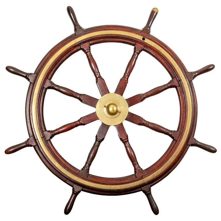 Fine Antique Ship's Wheel For Sale