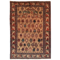 Fine Antique Shirvan Caucasian Russian Rug, Hand Knotted, circa 1930