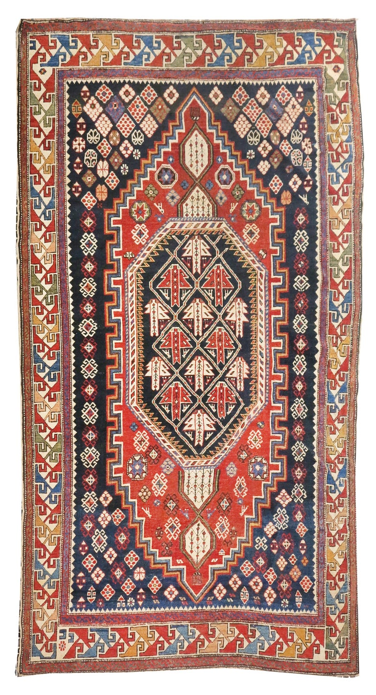 Azerbaijani Fine Antique Shirvan Caucasion Rug, Hand Knotted, circa 1890 For Sale