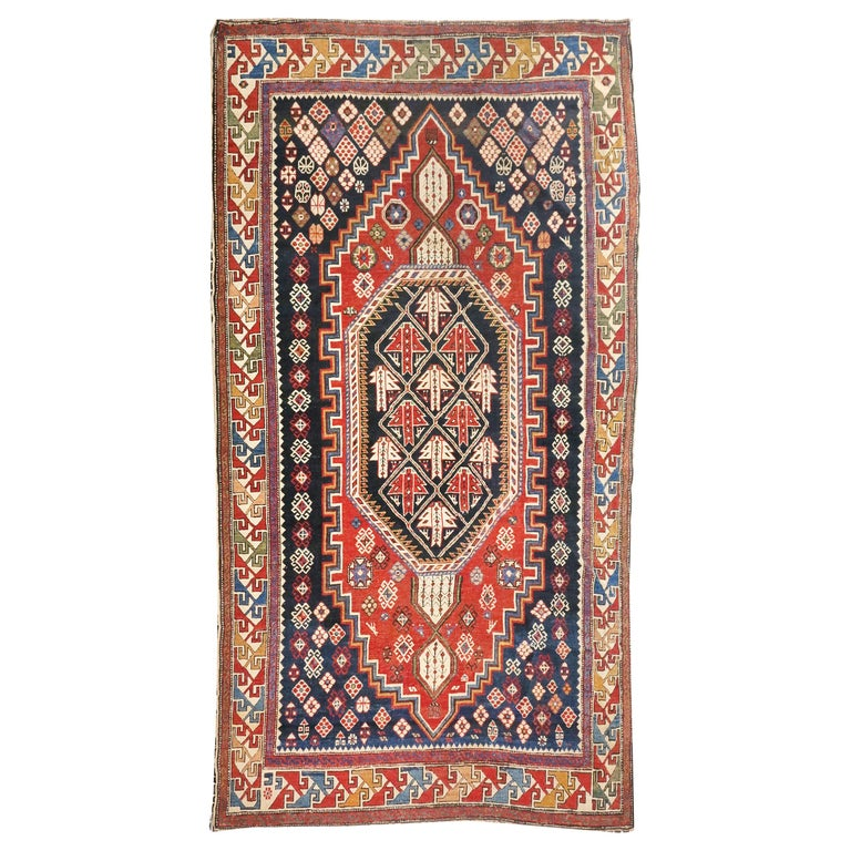 Fine Antique Shirvan Caucasion Rug, Hand Knotted, circa 1890 For Sale