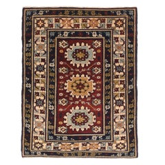 Fine Antique Shirvan Kuba Russian Rug, Hand Knotted, circa 1910