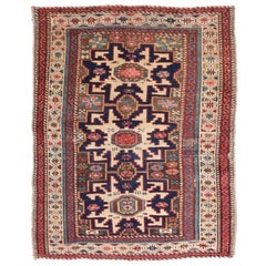Fine Antique Shirvan Russian Rug, Hand Knotted, circa 1900