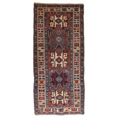 Fine Antique Shirvan Russian Runner Rug, Hand Knotted, circa 1890