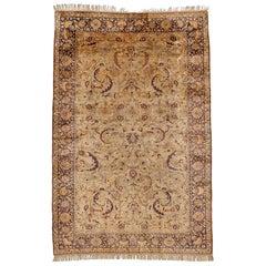 Fine Antique Silk Kayseri Rug