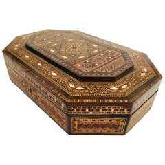Fine Antique Moorish Micro Mosaic Mother-of-Pearl Inlay Box