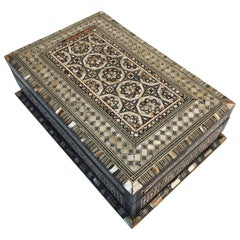Fine Antique Syrian Mother of Pearl Inlay Box