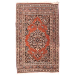 Fine Antique Tabriz Persian Rug, Hand Knotted, circa 1910