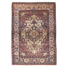 Fine Antique Tehran Persian Rug, Hand Knotted, circa 1890
