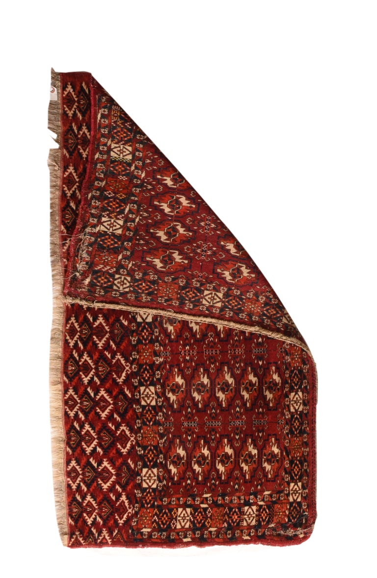 Tribal Fine Antique Torkaman-Turkmen Russian Rug, Hand Knotted, circa 1900 For Sale