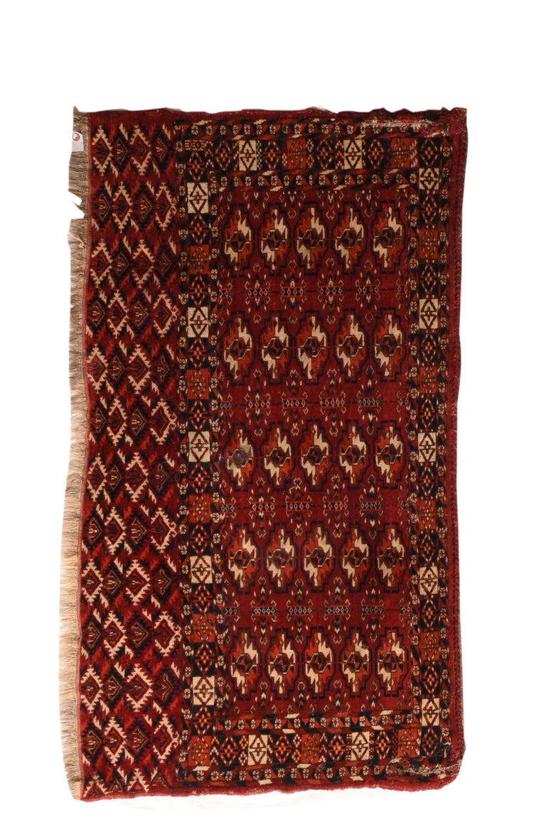 Hand-Knotted Fine Antique Torkaman-Turkmen Russian Rug, Hand Knotted, circa 1900 For Sale