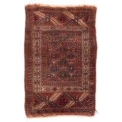 Fine Antique Turkeman Russain Rug, Hand Knotted, circa 1920