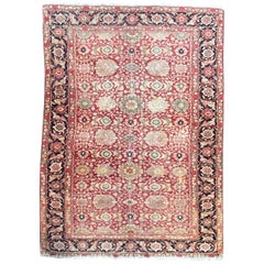 Fine Antique Turkish Mahal Style Rug