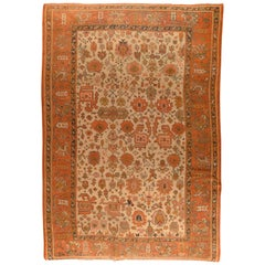 Fine Antique Turkish Oushak Rug, Hand Knotted, circa 1890