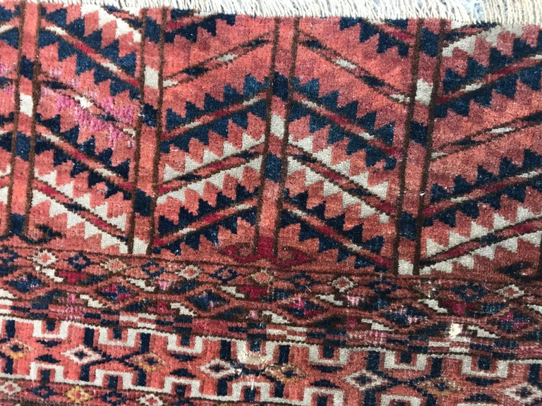 Fine Antique Turkmen Chuval Rug For Sale 4