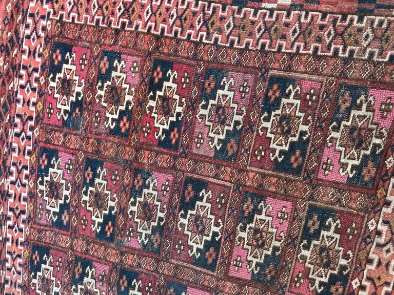 Fine Antique Turkmen Chuval Rug For Sale 8