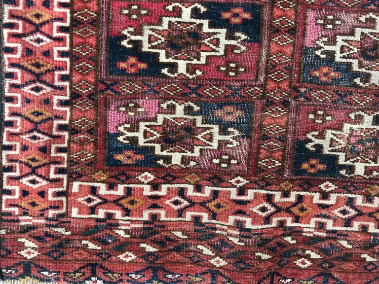 Fine Antique Turkmen Chuval Rug For Sale 9