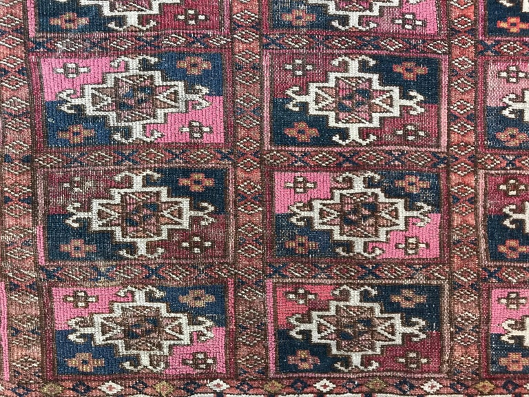 Tribal Fine Antique Turkmen Chuval Rug For Sale