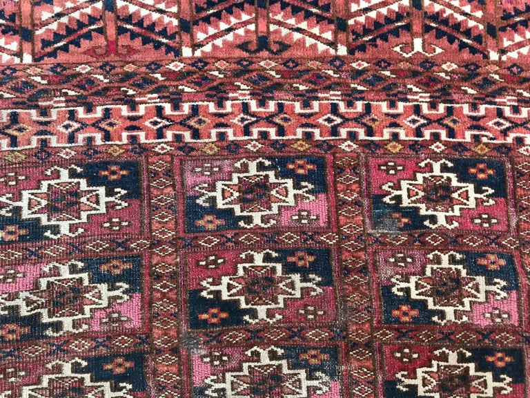 Afghan Fine Antique Turkmen Chuval Rug For Sale