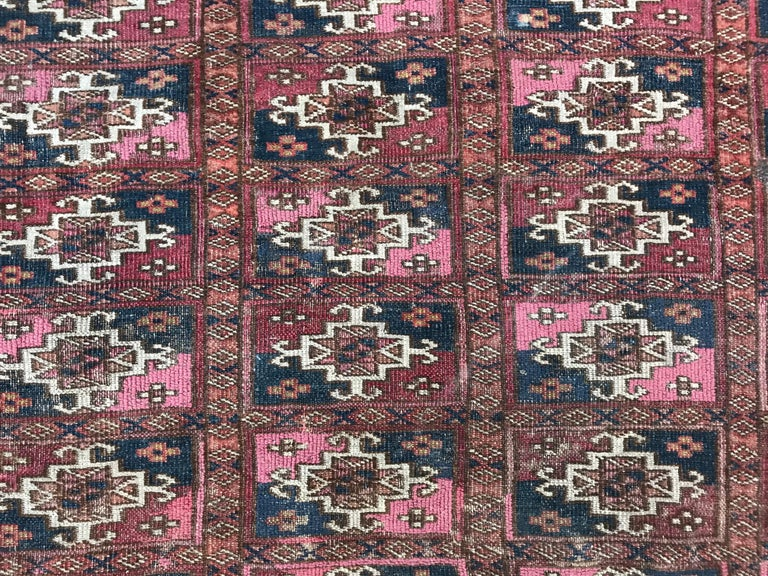 19th Century Fine Antique Turkmen Chuval Rug For Sale